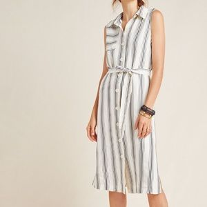 Maeve Stripe Trench Dress